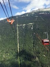 Peak 2 Peak Gondola across the Mountains