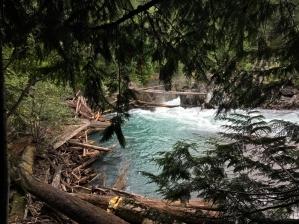 Cheakamus suspension bridge & train wreck site
