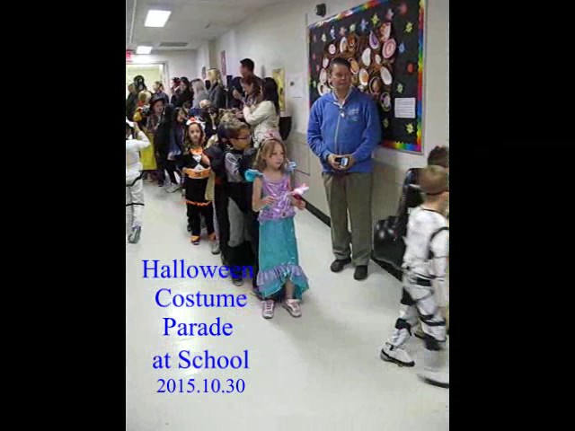 School Halloween Costume Parade