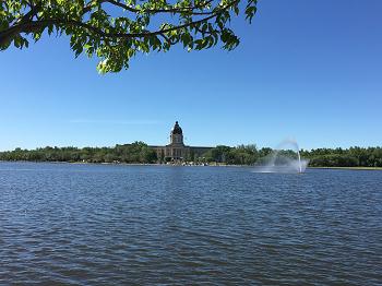 Morning Walk around Regina City Wascana Lake