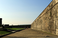 a walk  on the wall